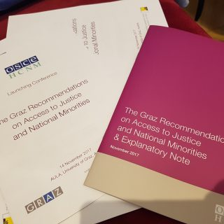 Launching  the Graz Recommendations on Access to Justice and National Minorities