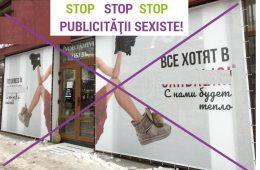 Produse de încălțăminte promovate prin publicitate sexistă