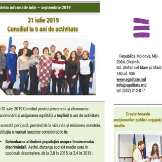 BULETIN INFORMATIV iulie — septembrie 2019