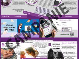 """Instruiri, sondaje, cazuri reale de discriminare și exemple de sfidare a stereotipurilor în cadrul campaniei """" ZERO Discriminare"""""""